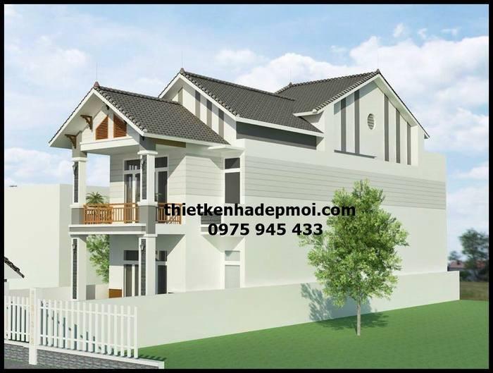 Tổng thể mẫu nhà hiện đại đẹp 2 tầng mặt tiền 6m