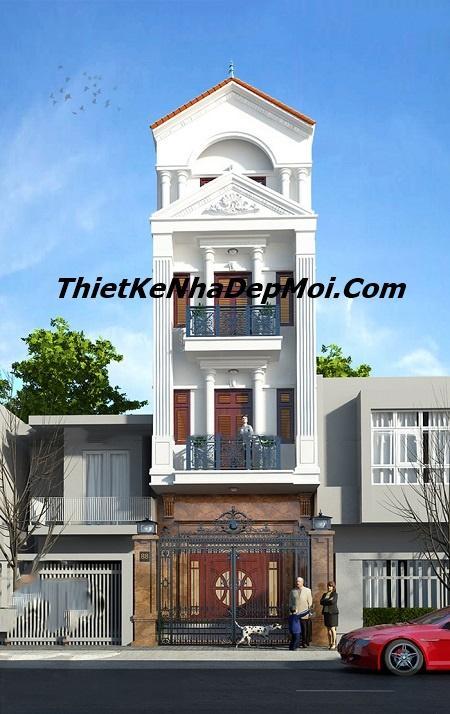Nhà phố cổ điển 4 tầng
