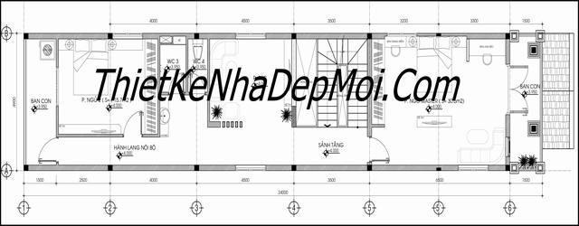 thiết kế nhà ống đẹp 3 tầng 5m 8845