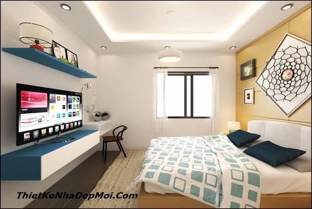 nội thất phòng ngủ vợ chồng chung cư 56m2