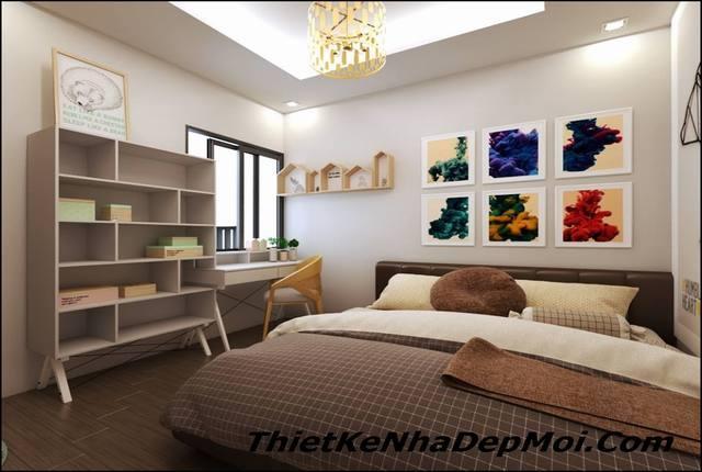 Cách thiết kế phòng ngủ đơn giản thoáng mà đẹp chung cư 56m2