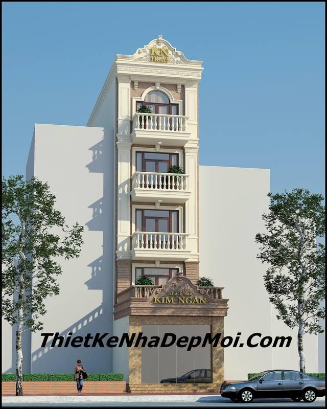 Hình ảnh mẫu khách sạn mini 5 tầng – MS 3214