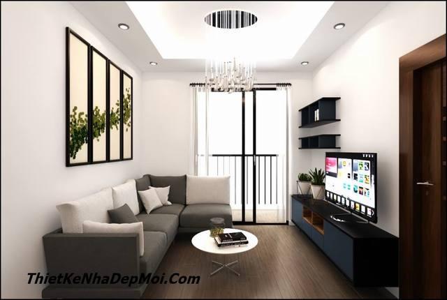 Mẫu thiết kế nội thất căn hộ chung cư đơn giản