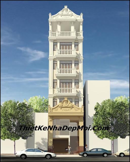 Bản vẽ thiết kế nhà nghỉ 7 tầng mặt tiền 4.6m anh Pháp Hà Nội