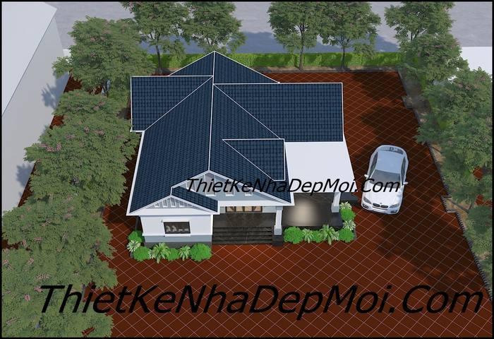 Mẫu nhà mái thái đẹp cấp 4 hiện đại
