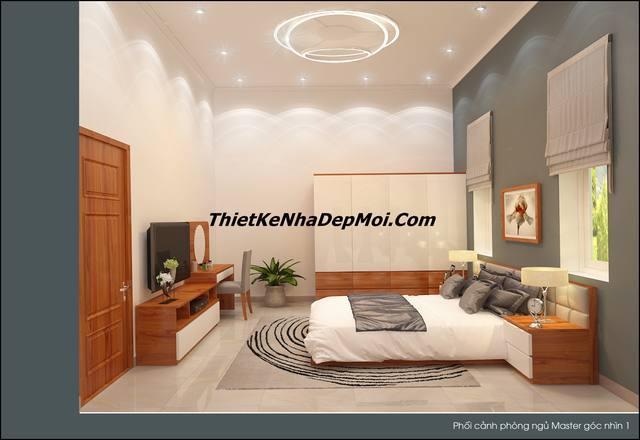 Phòng ngủ master vợ chồng hiện đại anh Danh