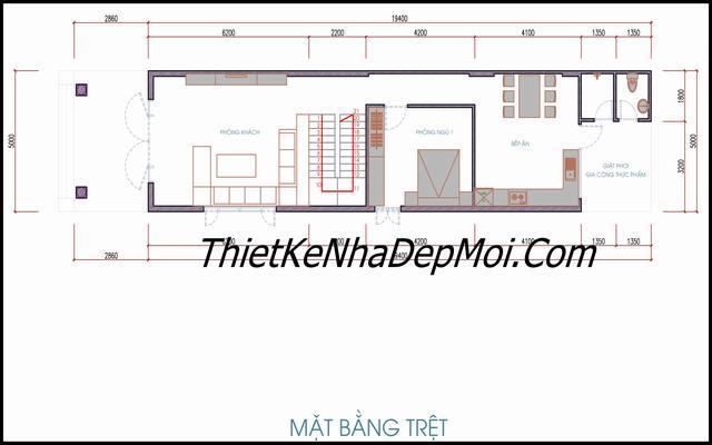 mat bang nha pho 5x20 2 tang 1