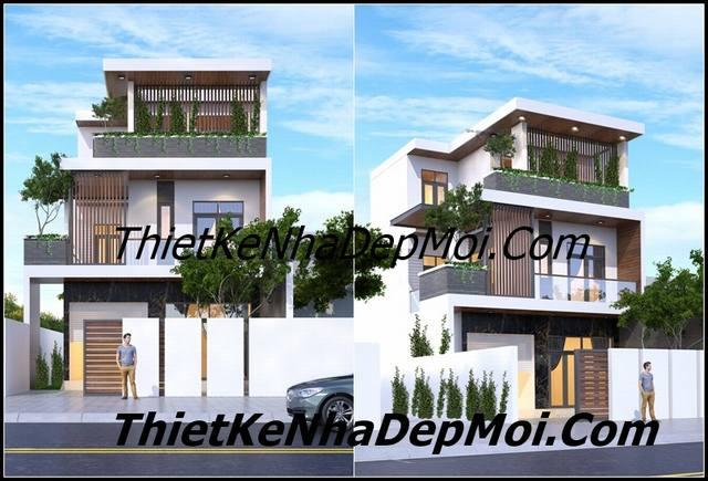 Hình ảnh biệt thự 3 tầng hiện đại 8x20m phong cách châu âu