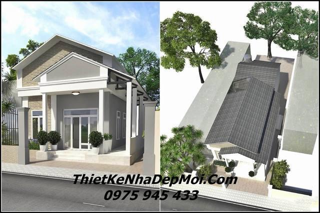 Kinh phí xây nhà cấp 4 giá 400 triệu mái thái
