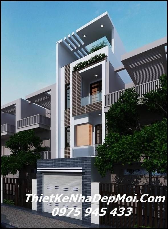 Mẫu nhà phố đẹp 3 tầng 1 tum 4x16m