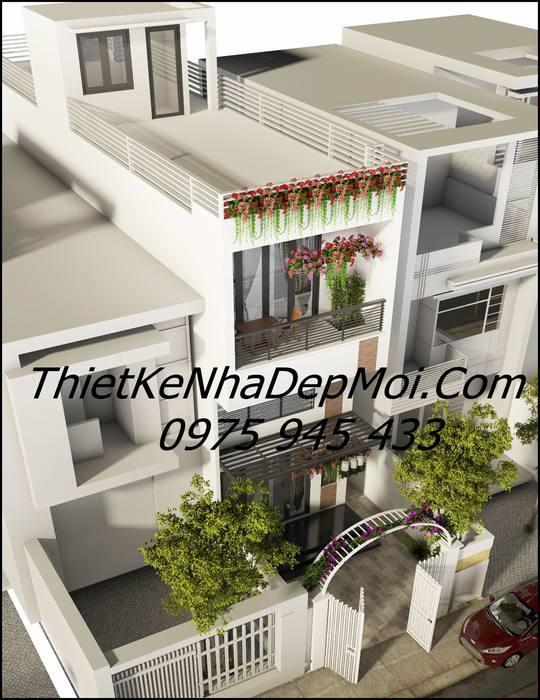 thiết kế nhà 5x20 có sân vườn